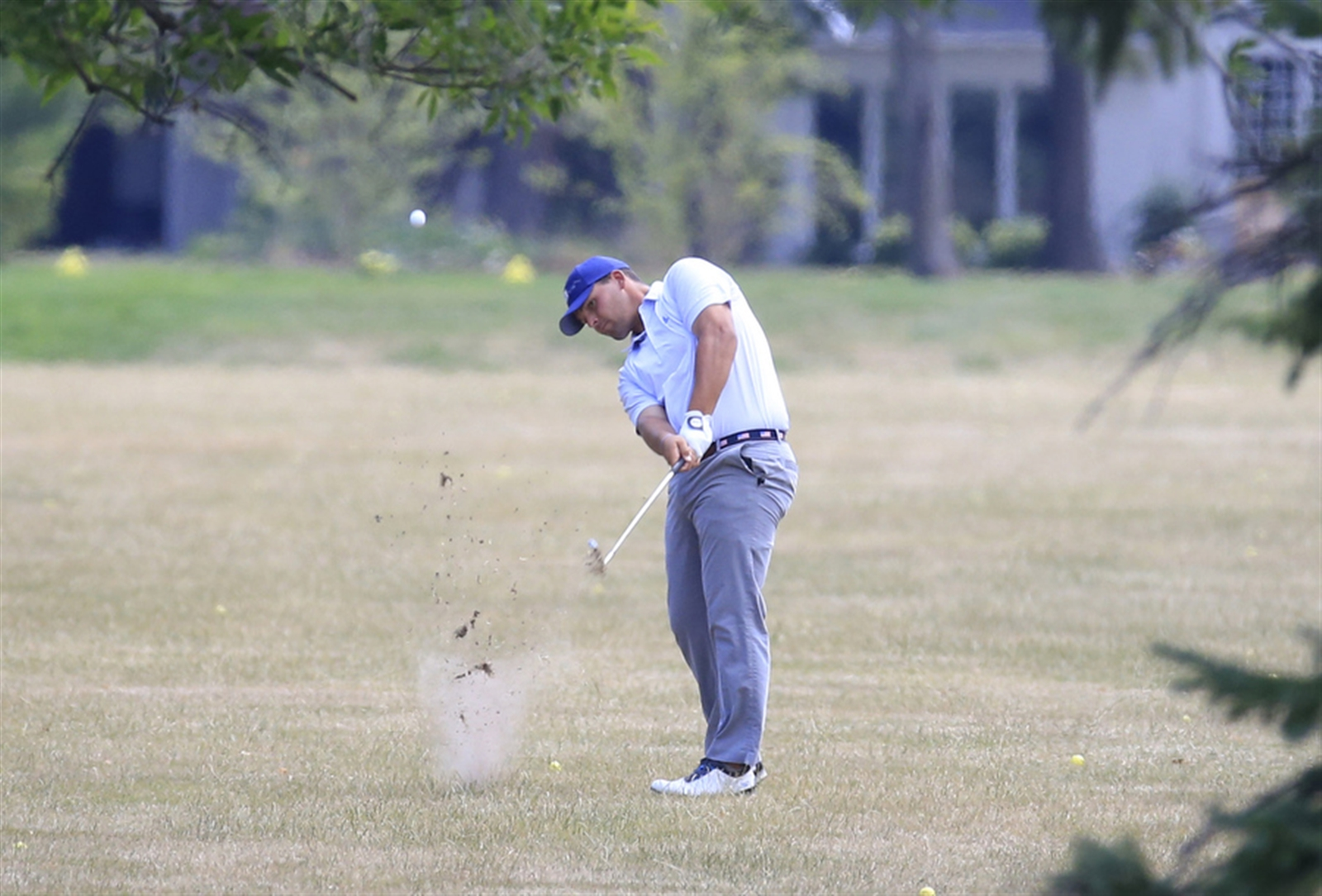 Billy Gaffney from East Amherst hits from the ninth fairway during round three of the Porter Cup. The competition was held at the Niagara Falls Country Club on July 29.