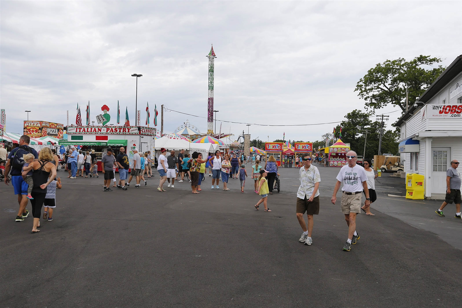 The Erie County Fair Midway on Aug. 15, 2016. The Erie County Fair set its attendance record in 2014 with a paid attendance of 1,220,101.