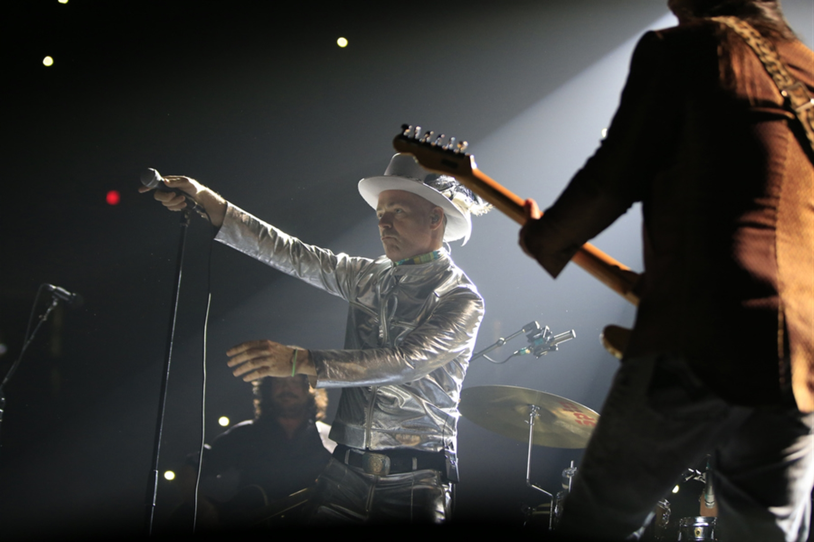 Gord Downie of The Tragically Hip performs at the First Ontario Centre in Hamilton, Ont., on Tuesday, Aug. 16, 2016.