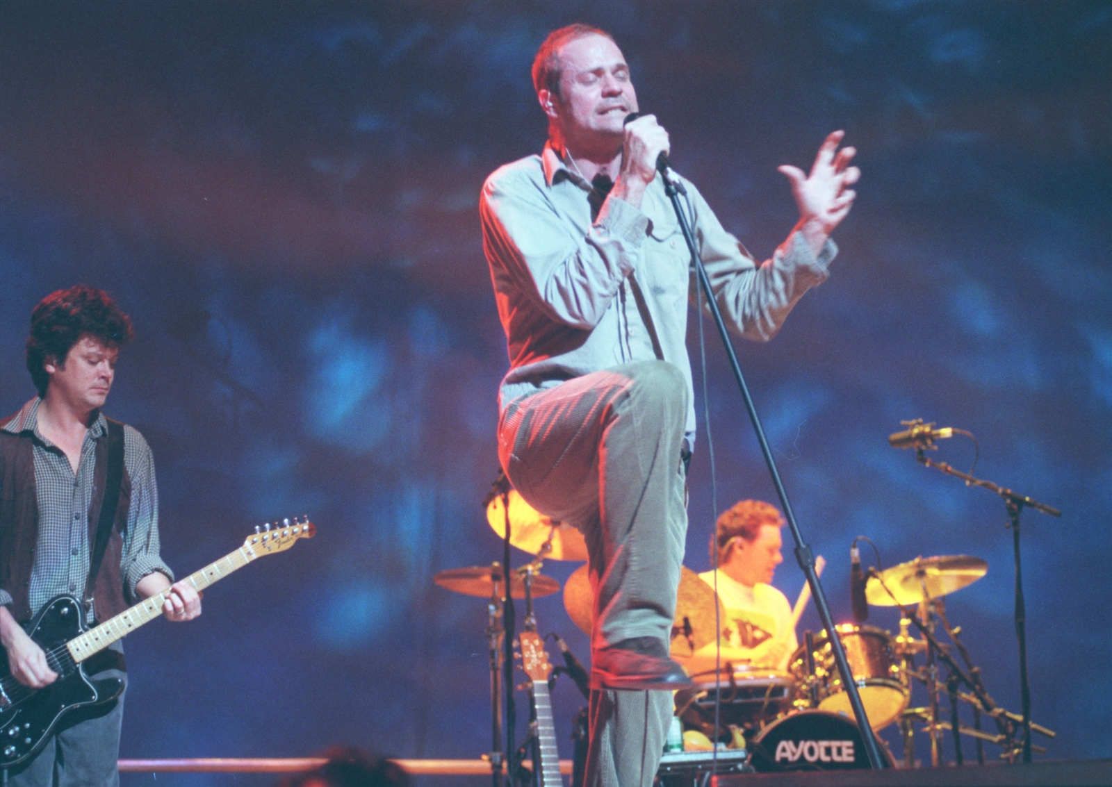 Tragically Hip lead singer Gordon Downie performs at Marine Midland Arena Wednesday February 10, 1999.