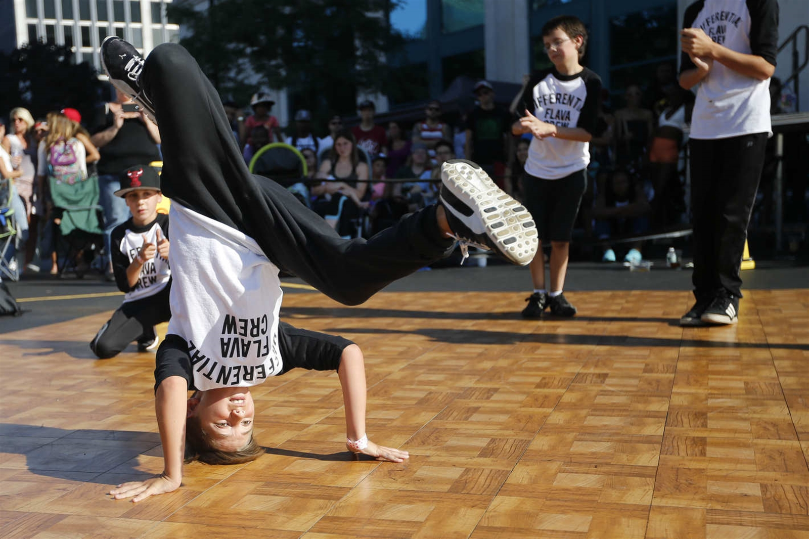 Luca Falcone, 10, performs with the Young Differential Flava Crew.