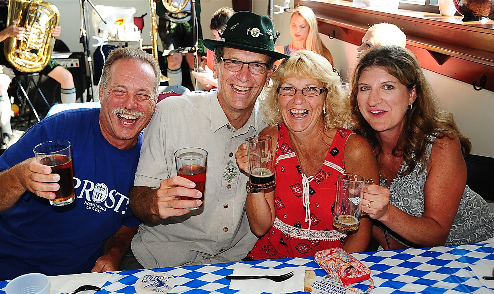 Cheers, at the Flying Bison Brewing Company's Bisonfest Oktoberfest.