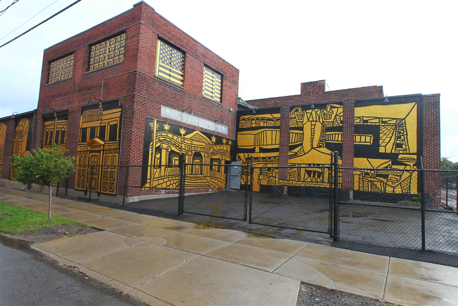 A new mural by Buffalo artist Daniel Galas on the side of Koch Metal Spinning, 72 Jewett Ave.