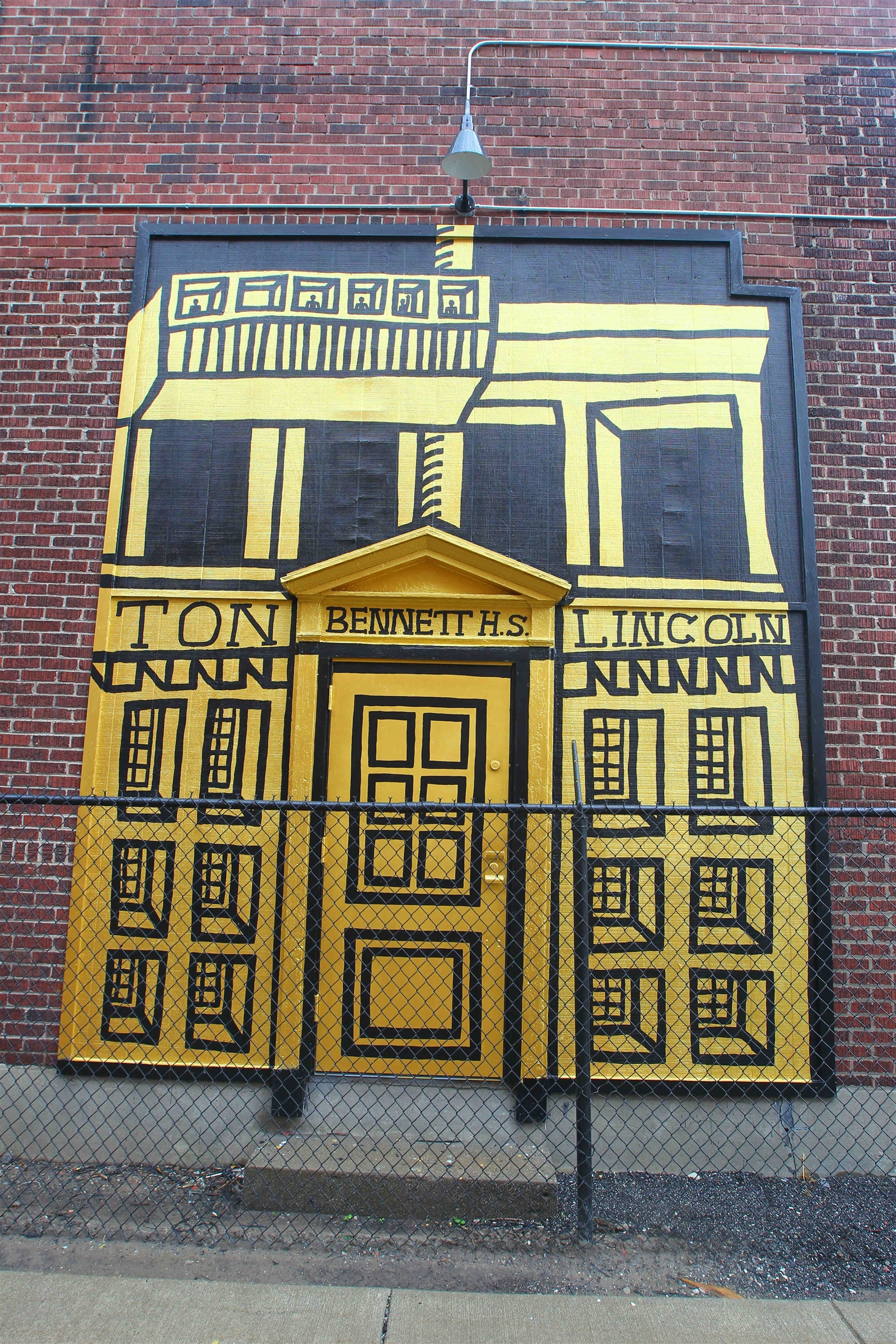 Mural by Buffalo artist Daniel Galas on the side of Koch Metal Spinning, 72 Jewett Ave.