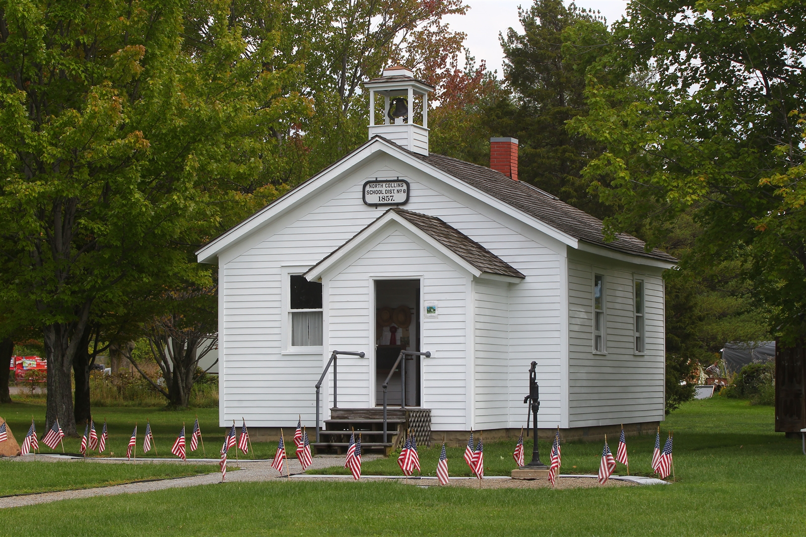 The Schoolhouse #8 History Center and Museum in North Collins. The one-room schoolhouse originally was opened in 1857.