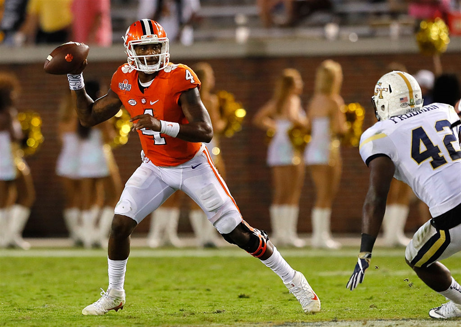 1. Deshaun Watson, Clemson: He's 6-2, undersized and not in a pro offense. Could be a bigger, much better Tyrod Taylor or a smaller, poorer Marcus Mariota.