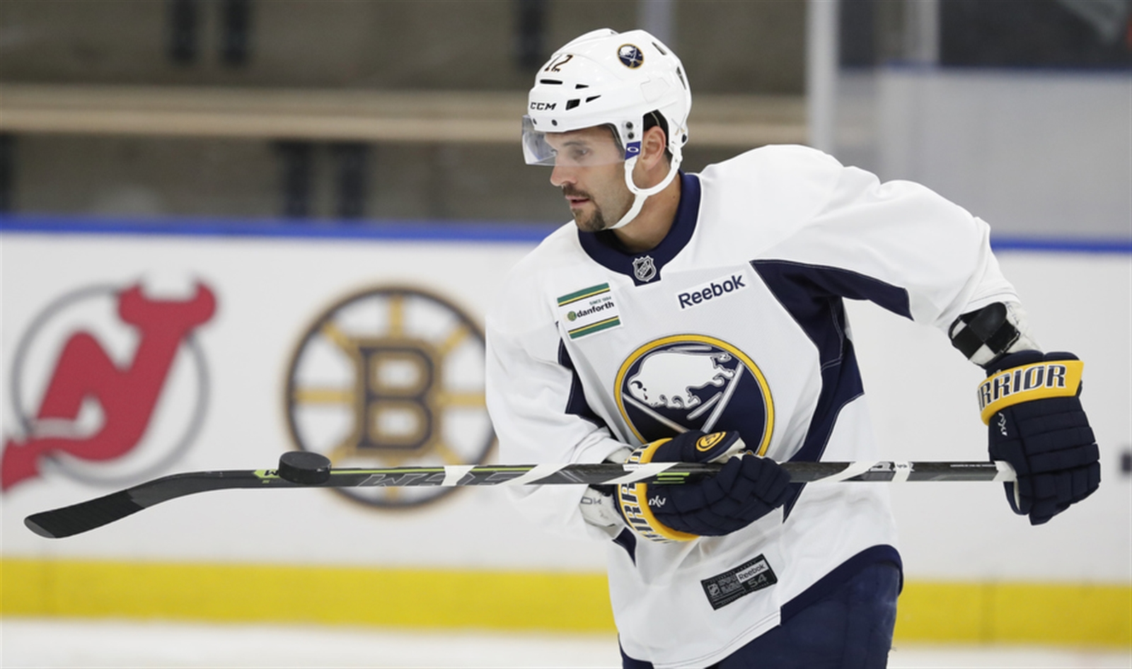 Brian Gionta during a scrimmage at training camp.