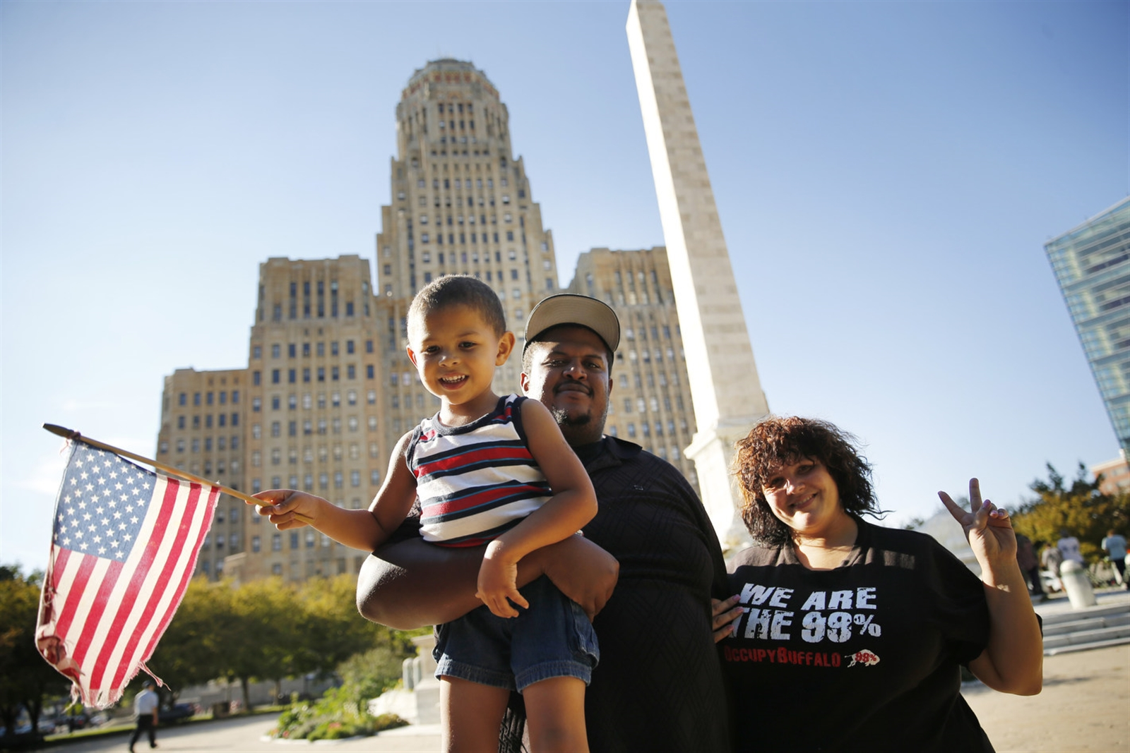 John Washington and Mindy Jo Russo met during the Occupy Buffalo movement five years ago.  Nine months later, they had a baby boy they named Justice Will Prevail Washington, who is now 4 1/2, Wednesday, Oct. 5, 2016.