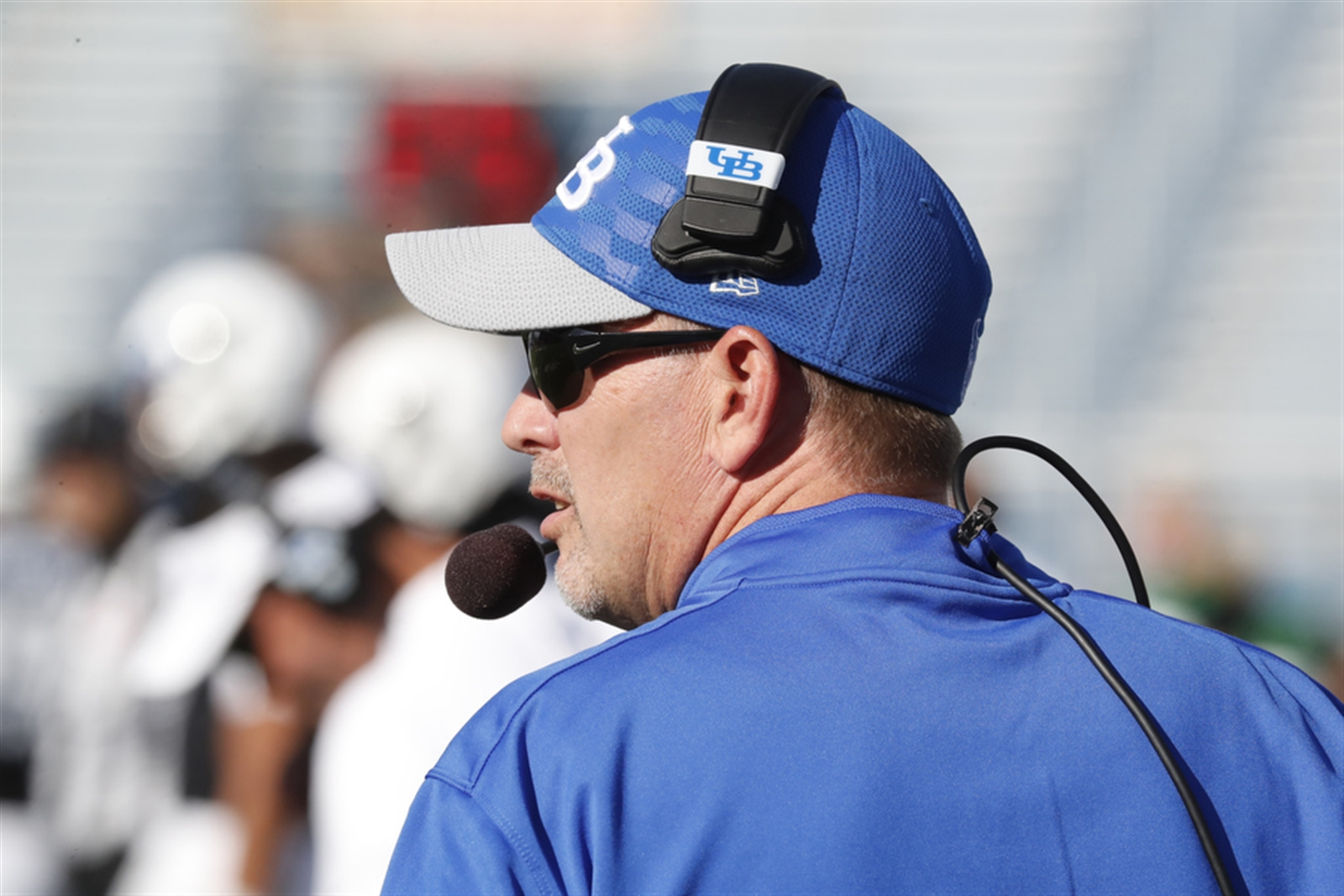University at Buffalo coach Lance Leipold looks on against  Ball State during first half action on Saturday,Oct. 15, 2016.(Harry Scull Jr./Buffalo News)
