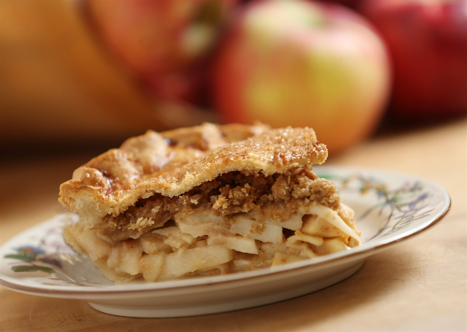 They include an apple pie with streusel topping under the top crust.