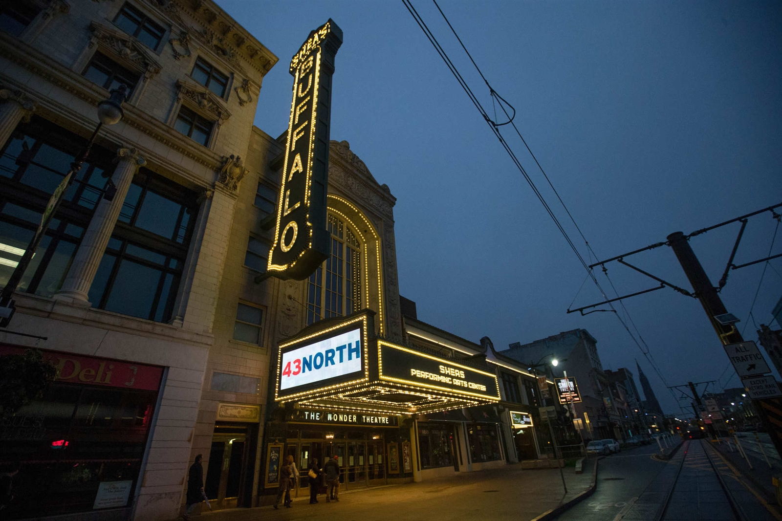 Shea's Buffalo Theatre on the night of the 43 North finals, Thursday, Oct. 27, 2016.  (Derek Gee/Buffalo News)