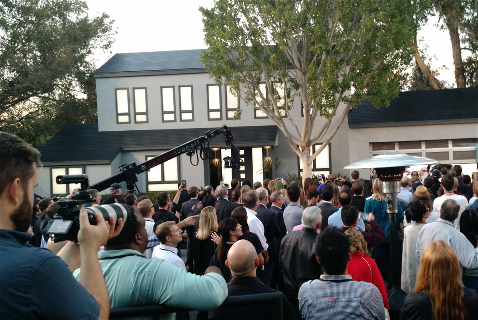 "The demonstration of SolarCity's new customized solar roofs used movie-set houses from the ""Desperate Housewives"" TV show."