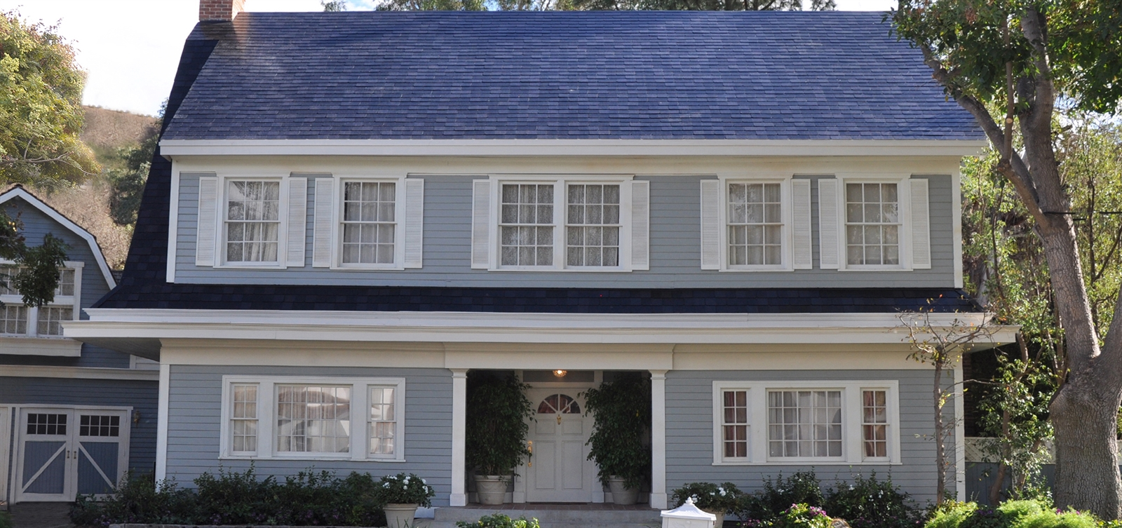 One of the solar roof styles unveiled at Elon Musk's SolarCity presentation.