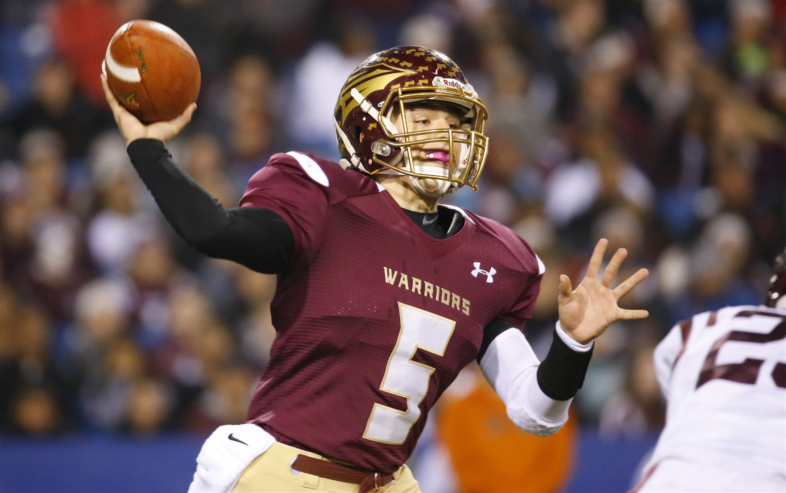 Cheektowaga quarterback Eric Bartnik throws against Dunkirk during first half action of the Section VI Class B Final at New Era Field on Saturday, Nov. 5, 2016.