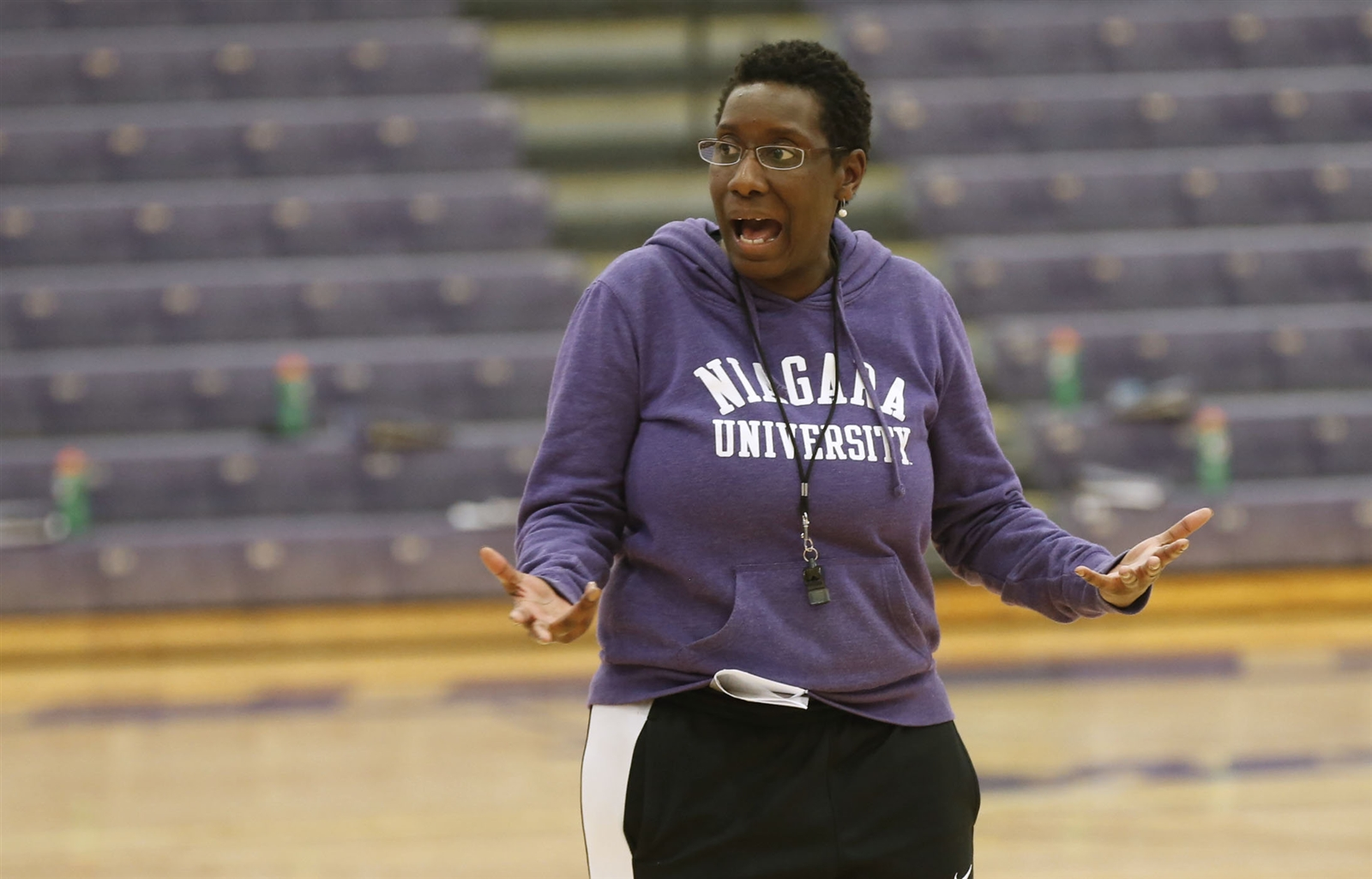 Niagara women's coach Jada Pierce