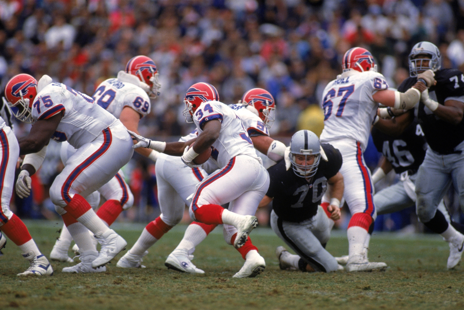 True, the Bills did beat the Raiders in 1991 (pictured), but that game was in Los Angeles. The team has lost its last eight times in games played in Oakland. If the Bills can end that streak Sunday against a Raiders team that is tied for the best record in the AFC at 9-2, it would be their most impressive win in recent memory. Here is how the Bills and Raiders match up:
