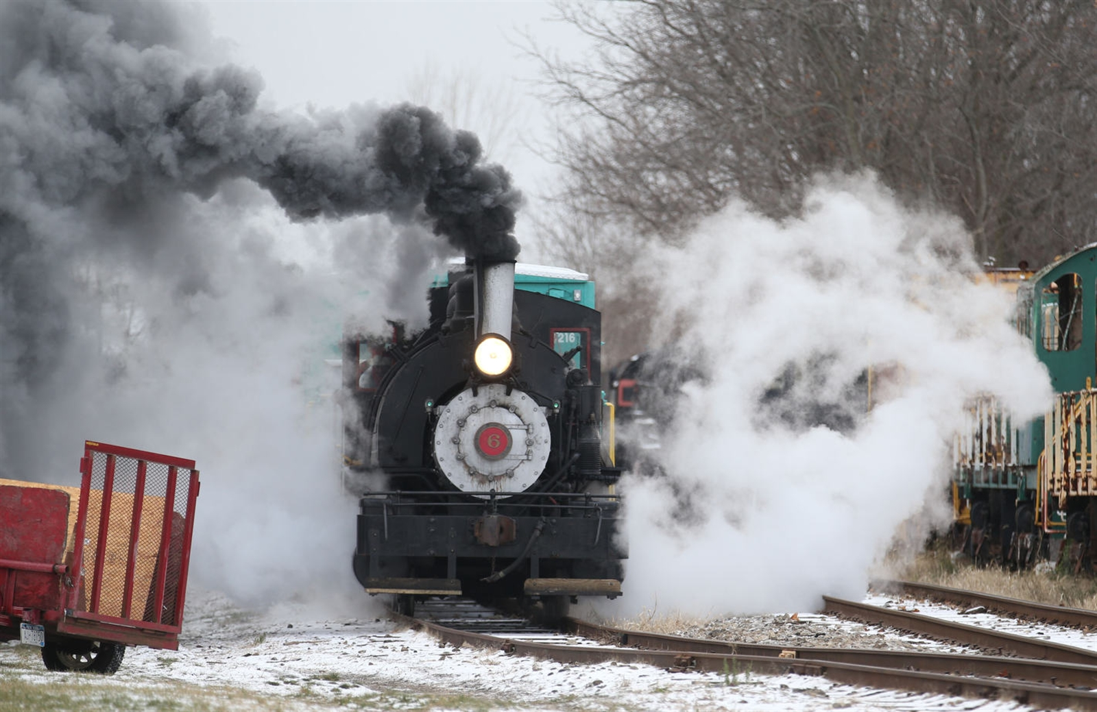 This is the first year that train rides are being given at its Christmas weekend event.