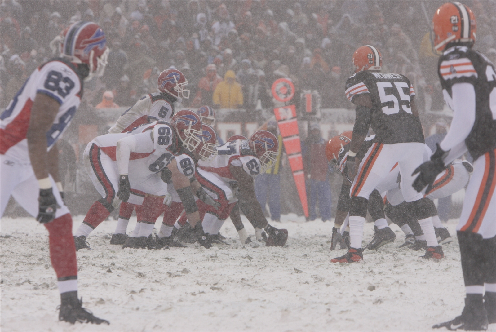 When the Cleveland Browns and Buffalo Bills get together, hilarity ensues. The Lake Erie neighbors have played some memorably horrible games, including an 8-0 victory by the Browns in a blizzard almost nine years ago to the day (Dec. 16, 2007 in Cleveland).