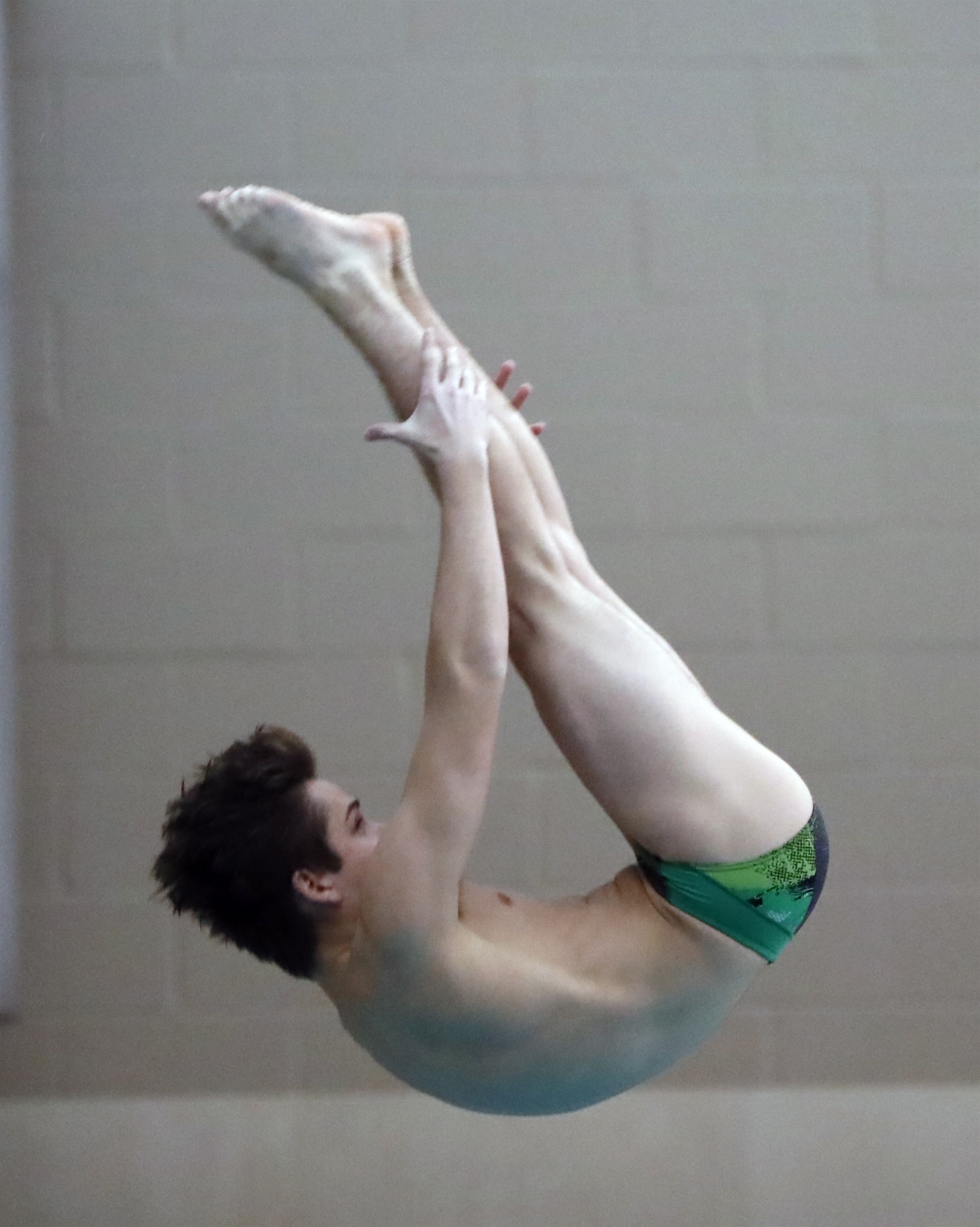 Casey Rosenski from Lake Shore high school, dives during the Section VI Class Meet Diving championships at Maryvale High School on Friday, Feb. 3, 2017. (Harry Scull Jr./Buffalo News)