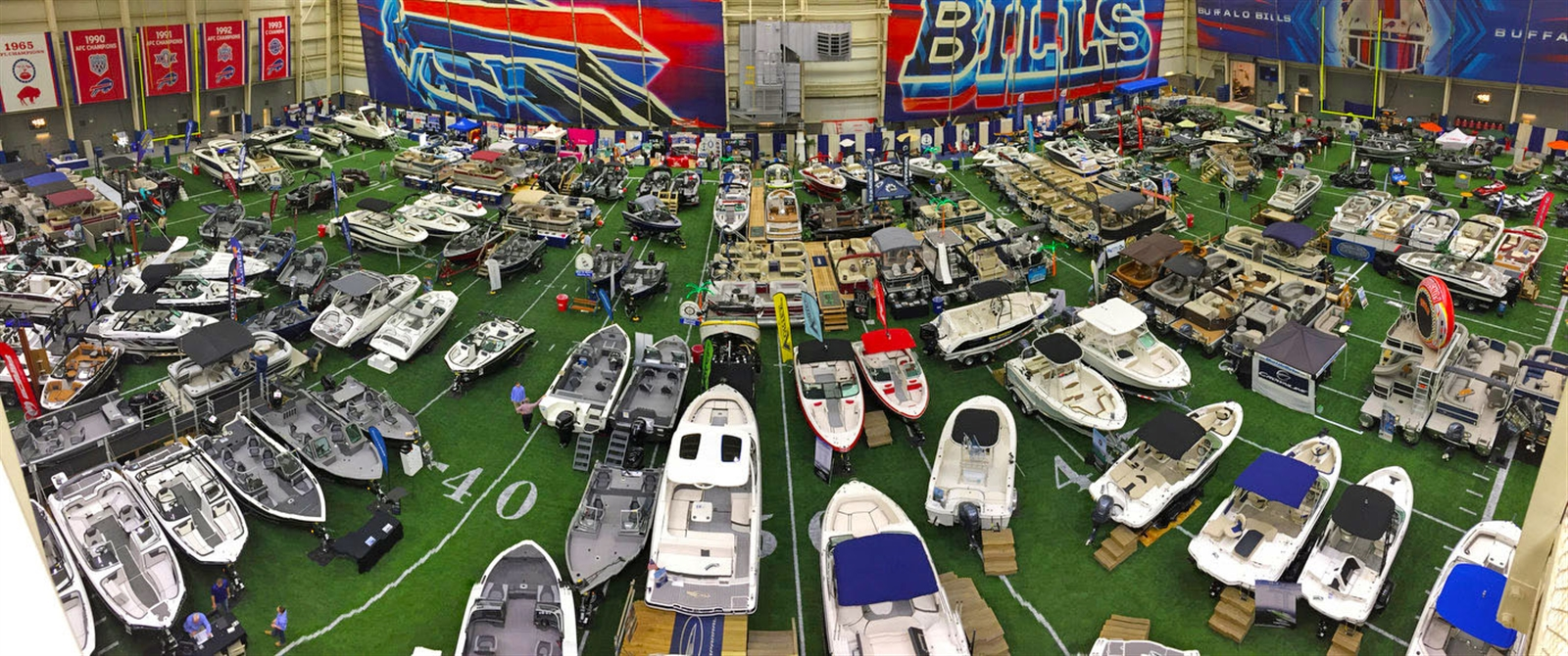 Scene from opening night at the 2017 WNY Boat Show.