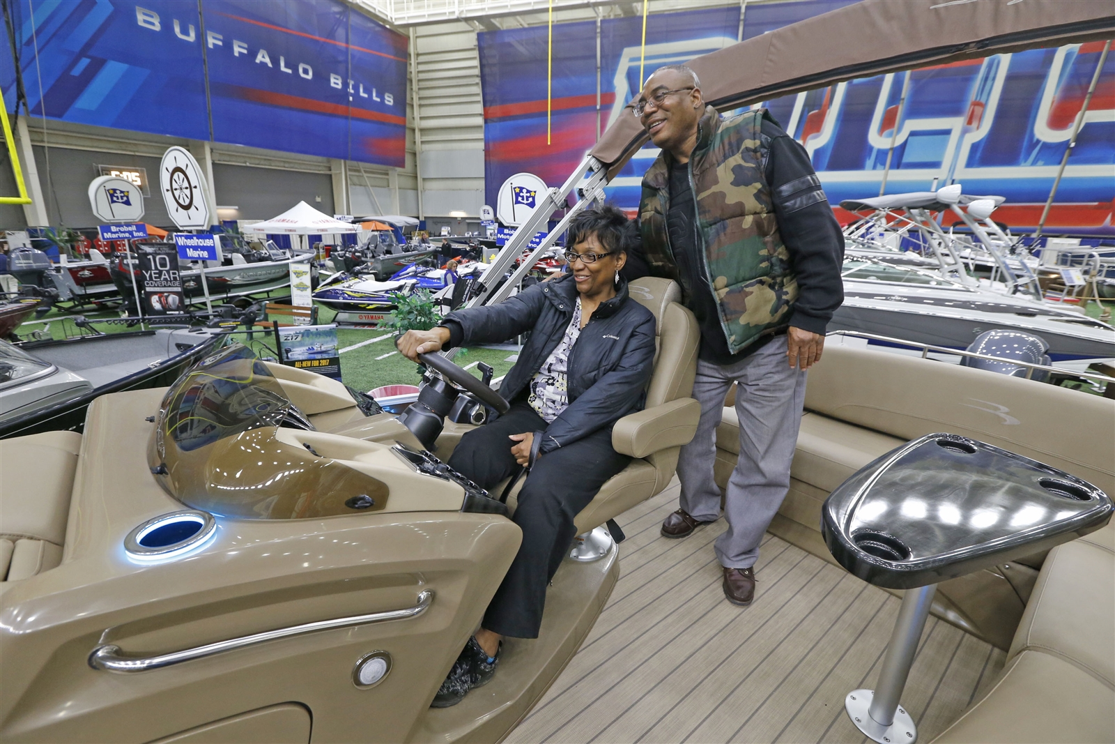 Zena Haywood, at the helm, and her fiancee Tommie Rollins of Buffalo dream a little.