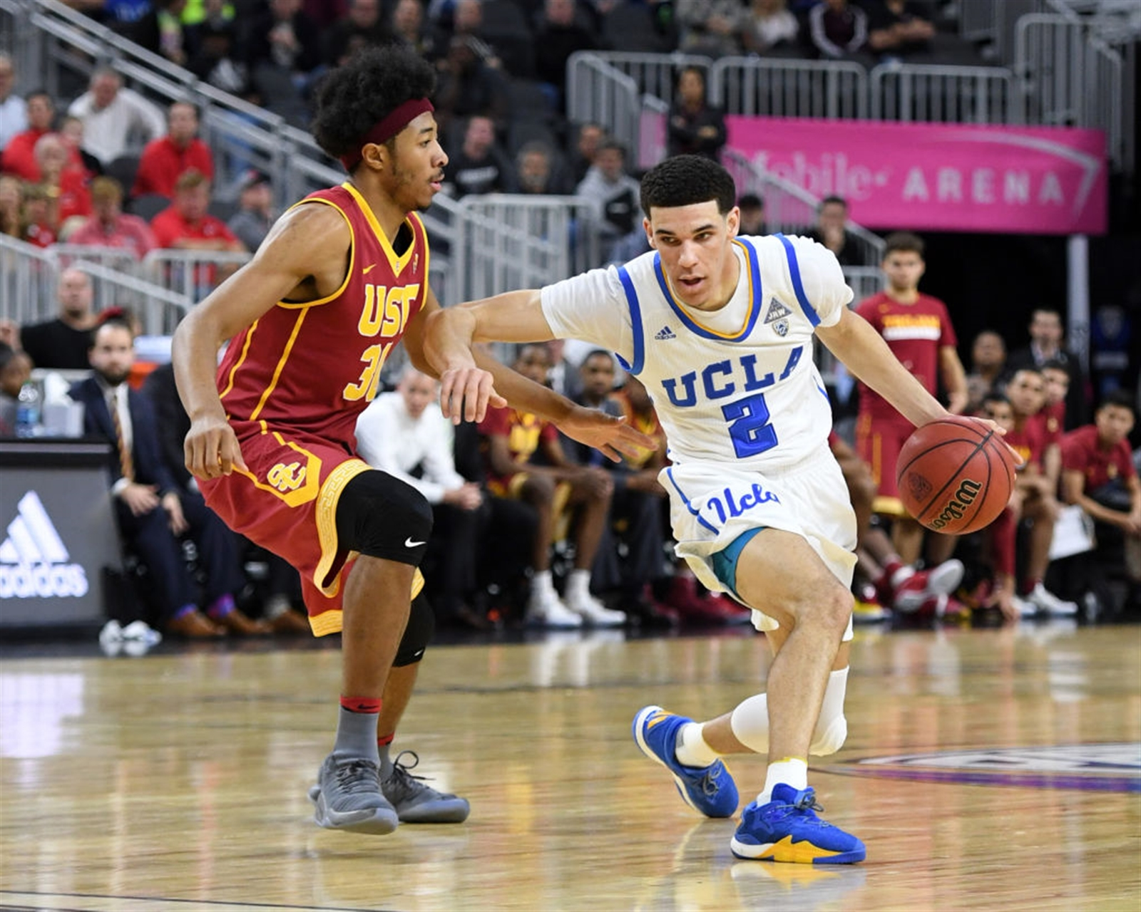 1. Lonzo Ball, UCLA.   The 6-6 freshman point guard has NBA scouts drooling because of his size and ability to distribute. Possible No. 2 pick.
