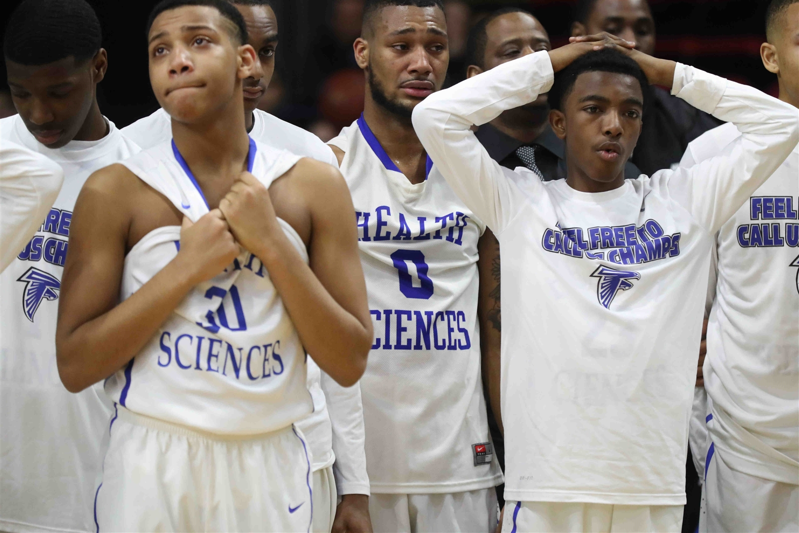 Health Sciences team was very upset after losing 67-55 to  Canton in the the semifinals.