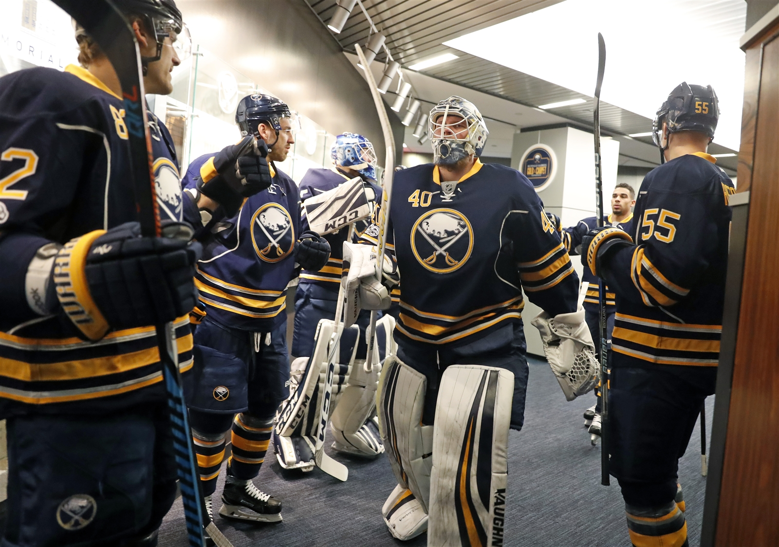 Buffalo Sabres' Robin Lehner gets the start in goal against Montreal.