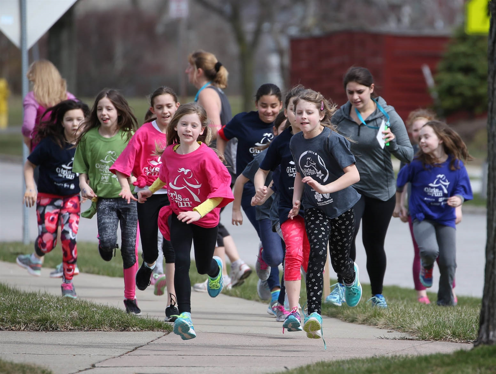 Girls on the Run is a national program which encourages girls to start running.  The curriculum they follow has a strong component in building confidence.  On Monday, April 3, a group from Forest Elementary School in Williamsville prepares for a 5K this month and in another in June.