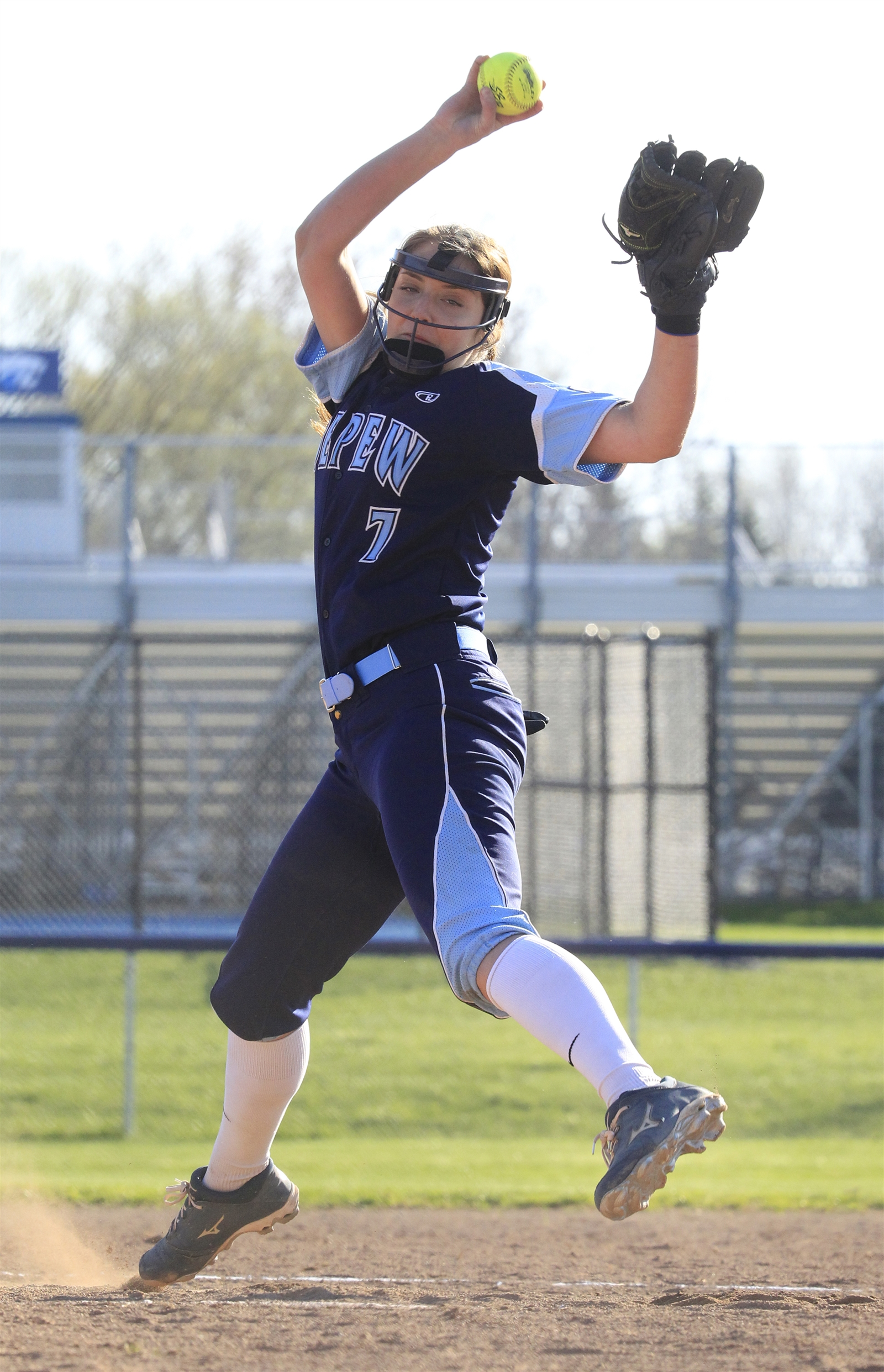 Depew pitcher Karsen Cotton against Alden at Depew High School on Monday, April 17, 2017.