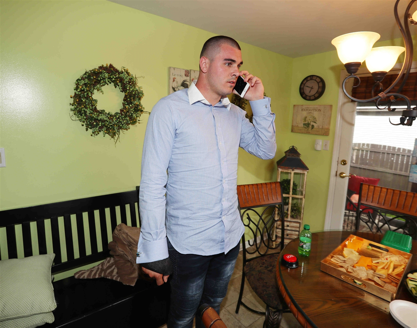 Chad Kelly gets a phone call from Denver letting him know the Broncos planned to draft him with the last pick if he is still available.