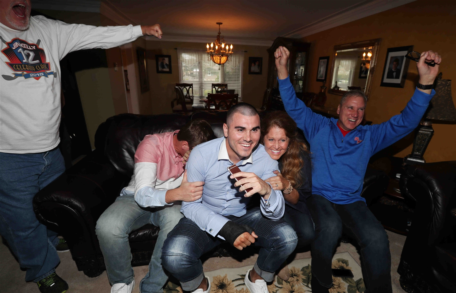 Chad Kelly's friends and family react to Kelly's being drafted.