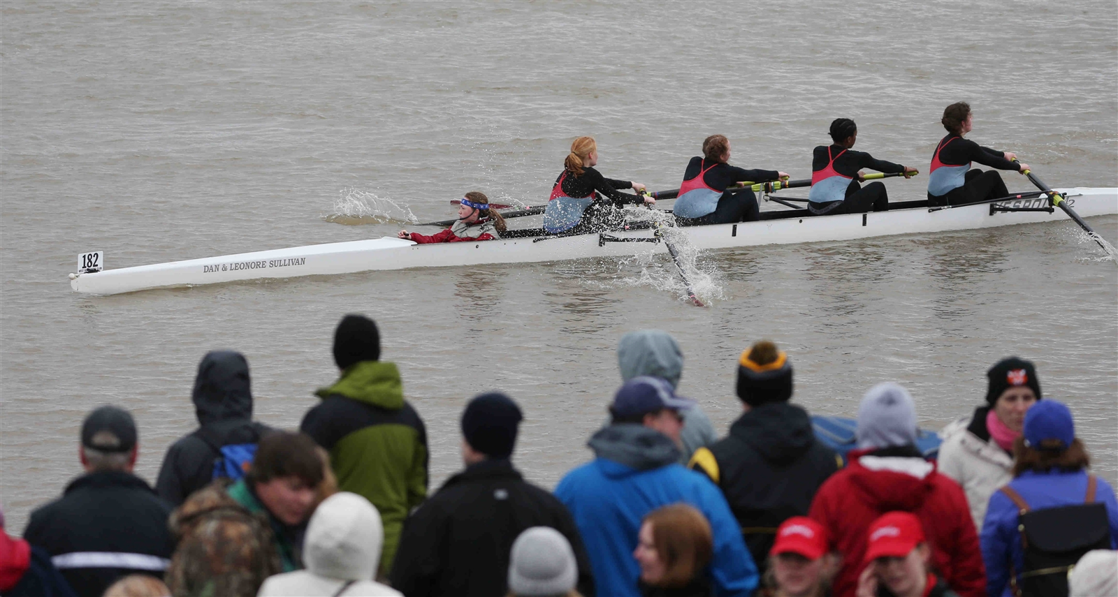 City Honors Women's JV4 competes in their time trial. Thirty teams from Western New York and Canada, including City Honors, Mount St. Maryu2019s, Nardin Academy, Nichols School, St. Josephu2019s Collegiate Institute, Canisius High School and West Side Rowing Club Juniors participated in the 1,500-meter time-trial event at West Side Rowing Club on Sunday, May 7, 2017.