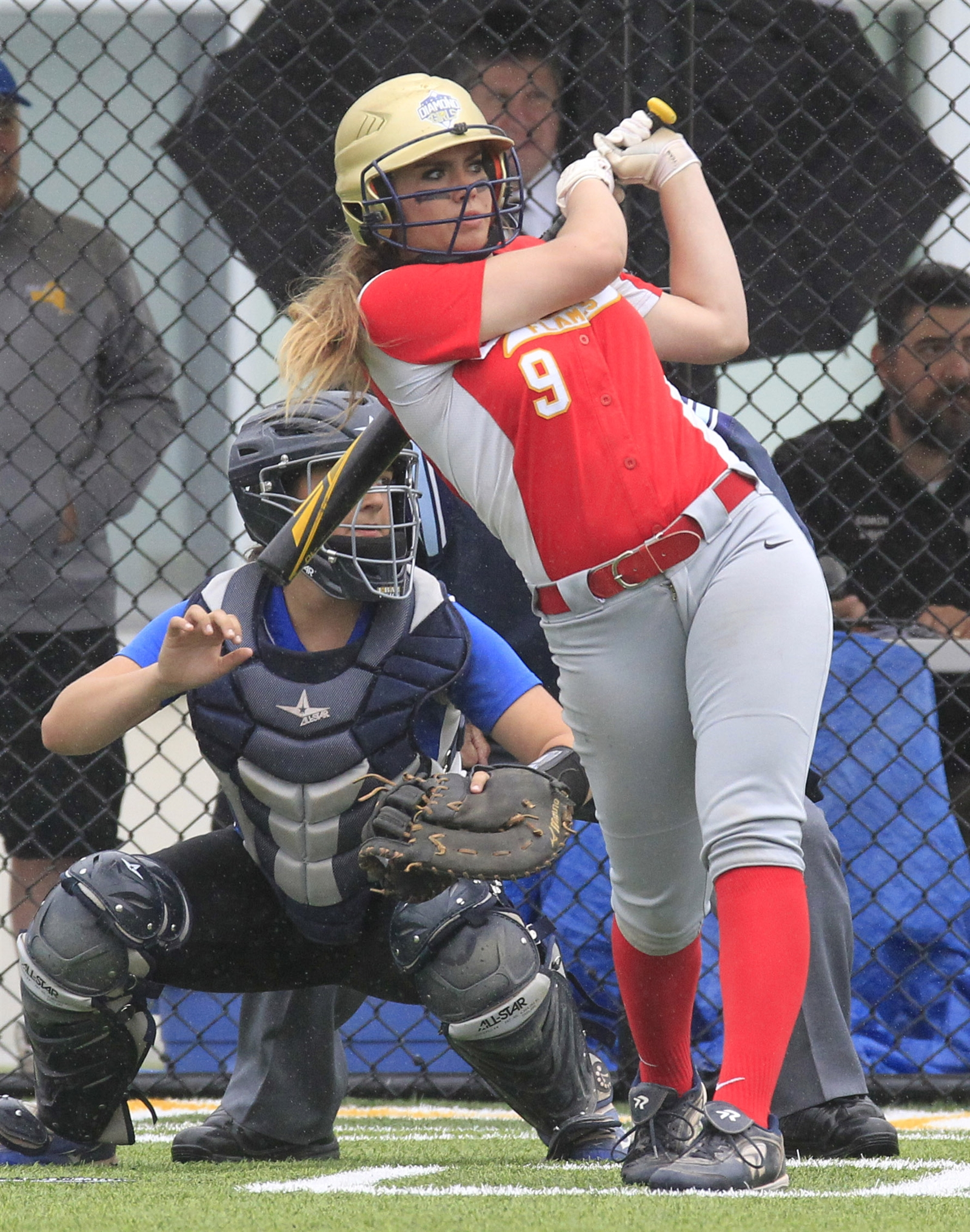 Williamsville Eastu2019s Christy Mack hits a first inning sacrifice RBI against Williamsville South.