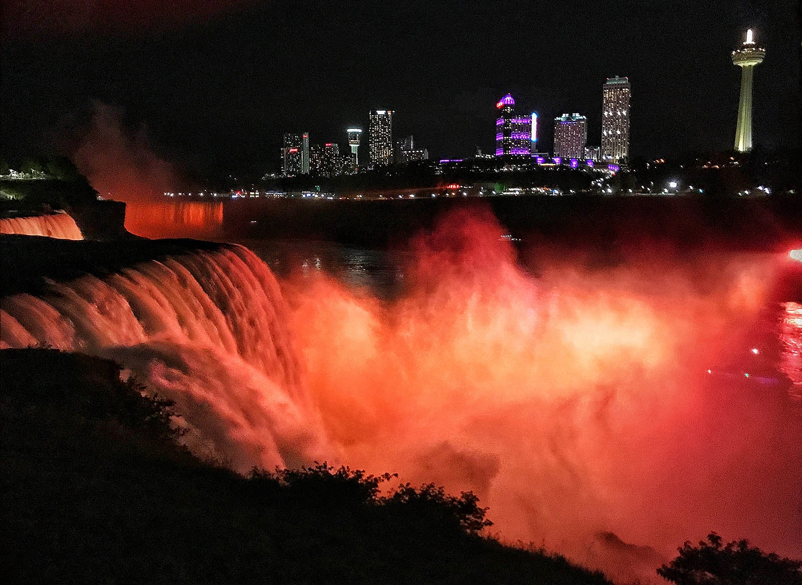 Niagara Falls was illuminated in orange Thursday evening to honor those who have lost their lives to gun violence. June is Gun Violence Awareness Month.