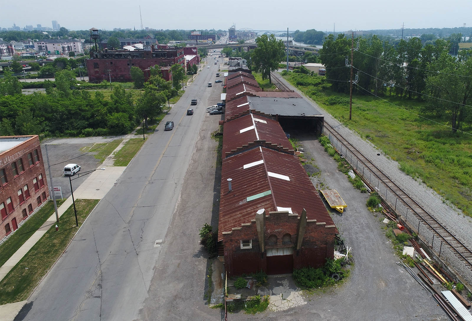 The former New York Capital Freight building on Tonawanda Street is being converted into 37 apartments and retail space.