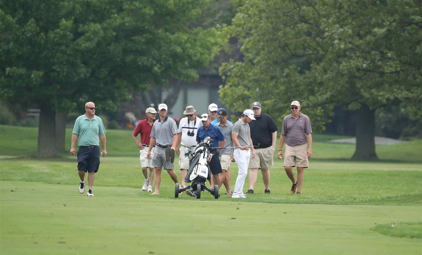 Harrison Endycott hits a shot off the ninth hole during the first round of the 59th Annual Porter Cup.
