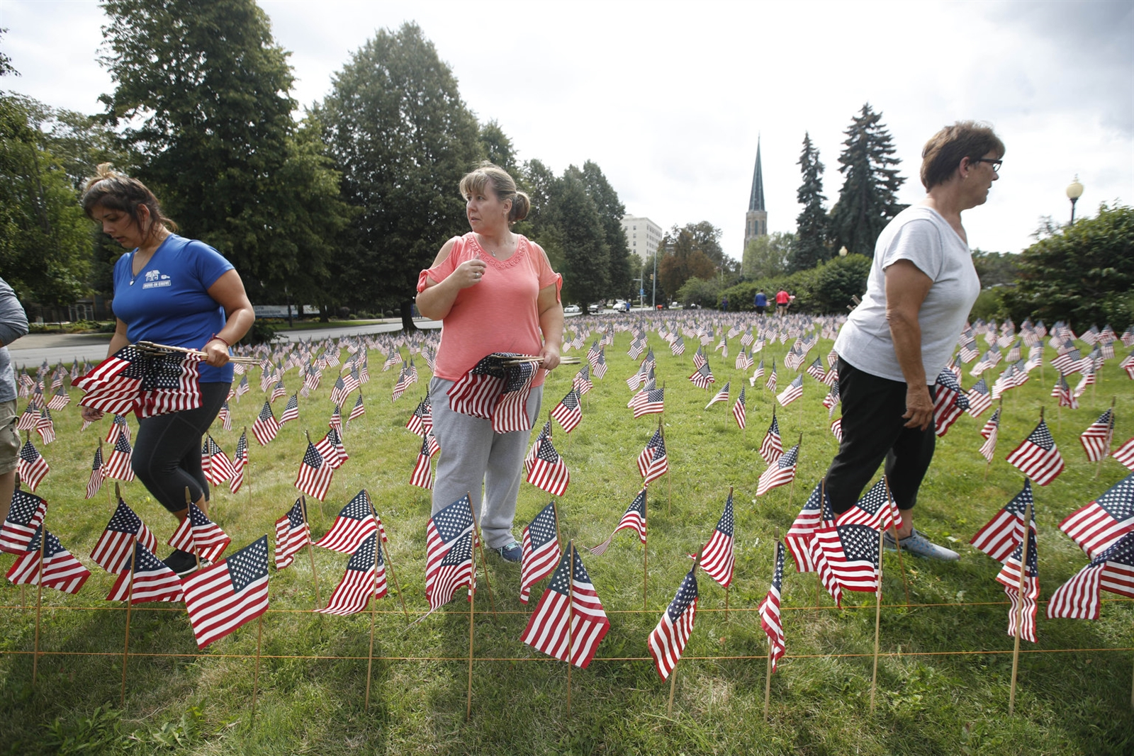 WNY Families of 9/11 set up 2996 flags representing each victim of the September 11 attack.  26 of those had local connections.