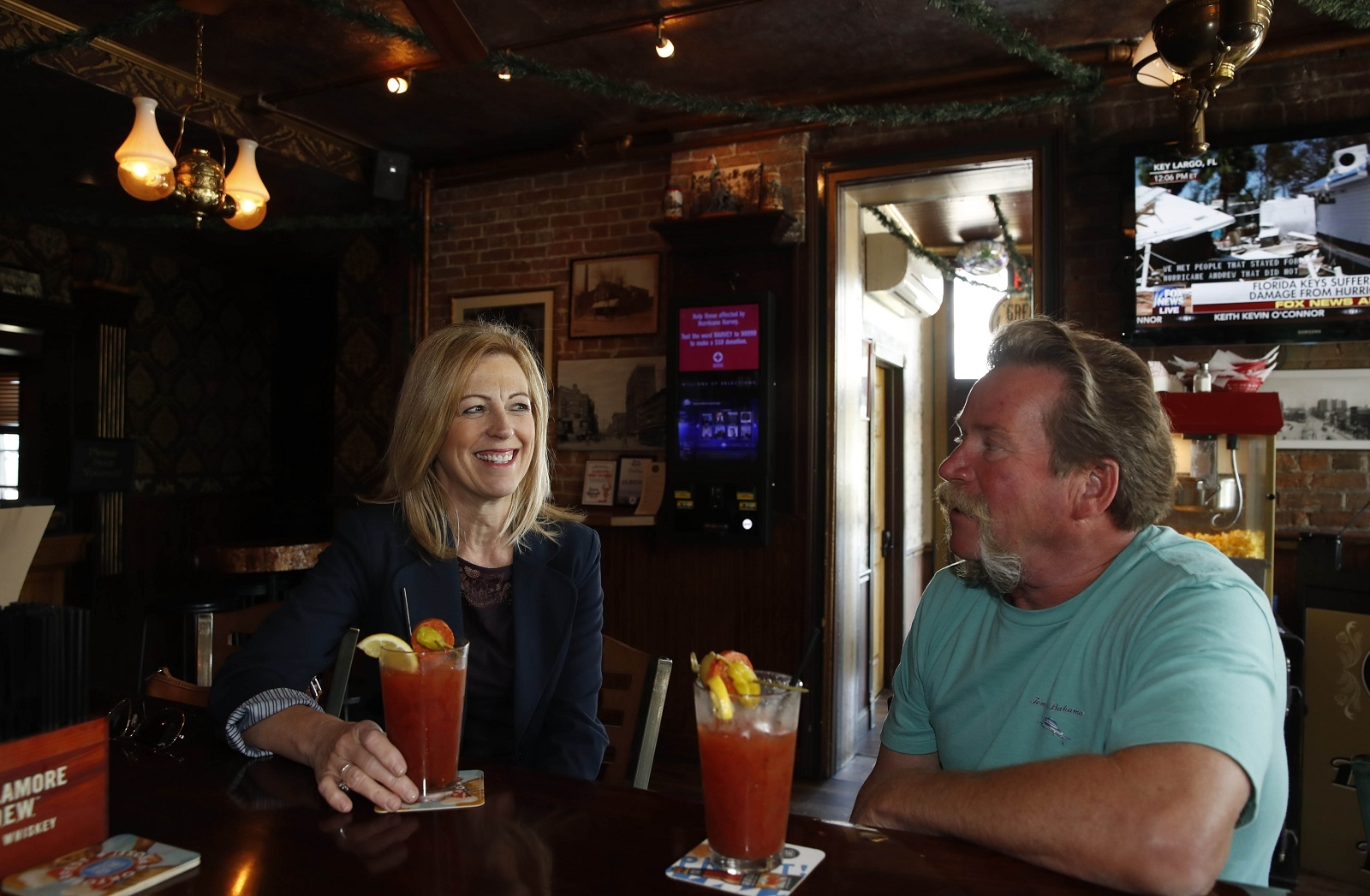 Debbie and Steve Cudzilo, of North Tonawanda, stop at Ulrich's 1868 Tavern for  Bloody Marys because they are made with housemade tomato juice.