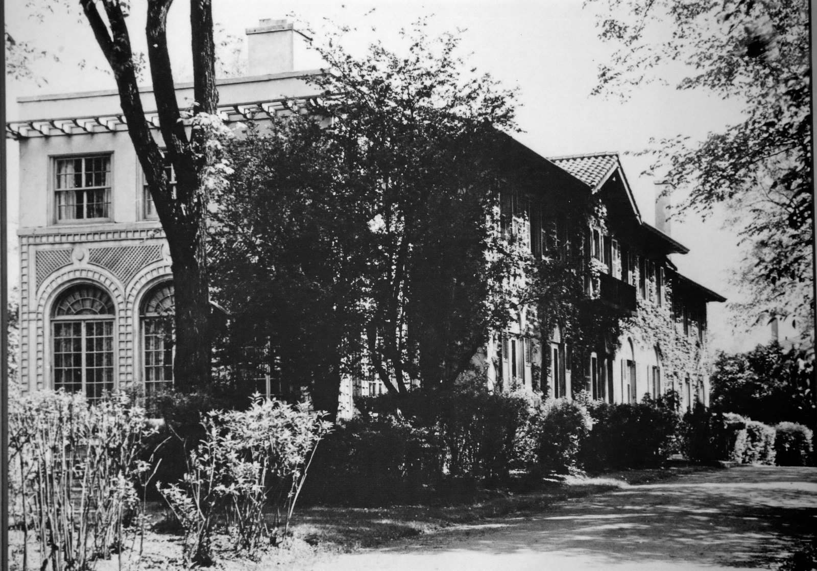 When Crouch's wife became ill in 1935, the couple moved to California and Crouch sold the mansion to George Waite. Purchased from the Waite family in 1948, the newly named Rosary Hall was the first home to Rosary Hill College, now Daemen College. Photo courtesy of Daemen College.