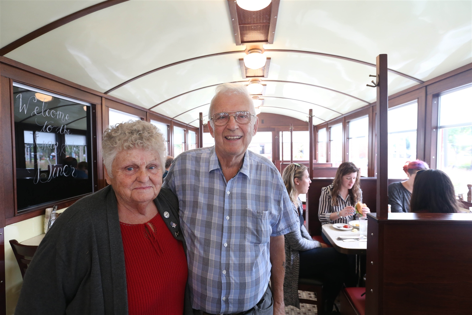 Jim and Betty McBride ran the 1930s diner for 30 years in Newark, NY, before selling it to the Zemskys a few years ago.