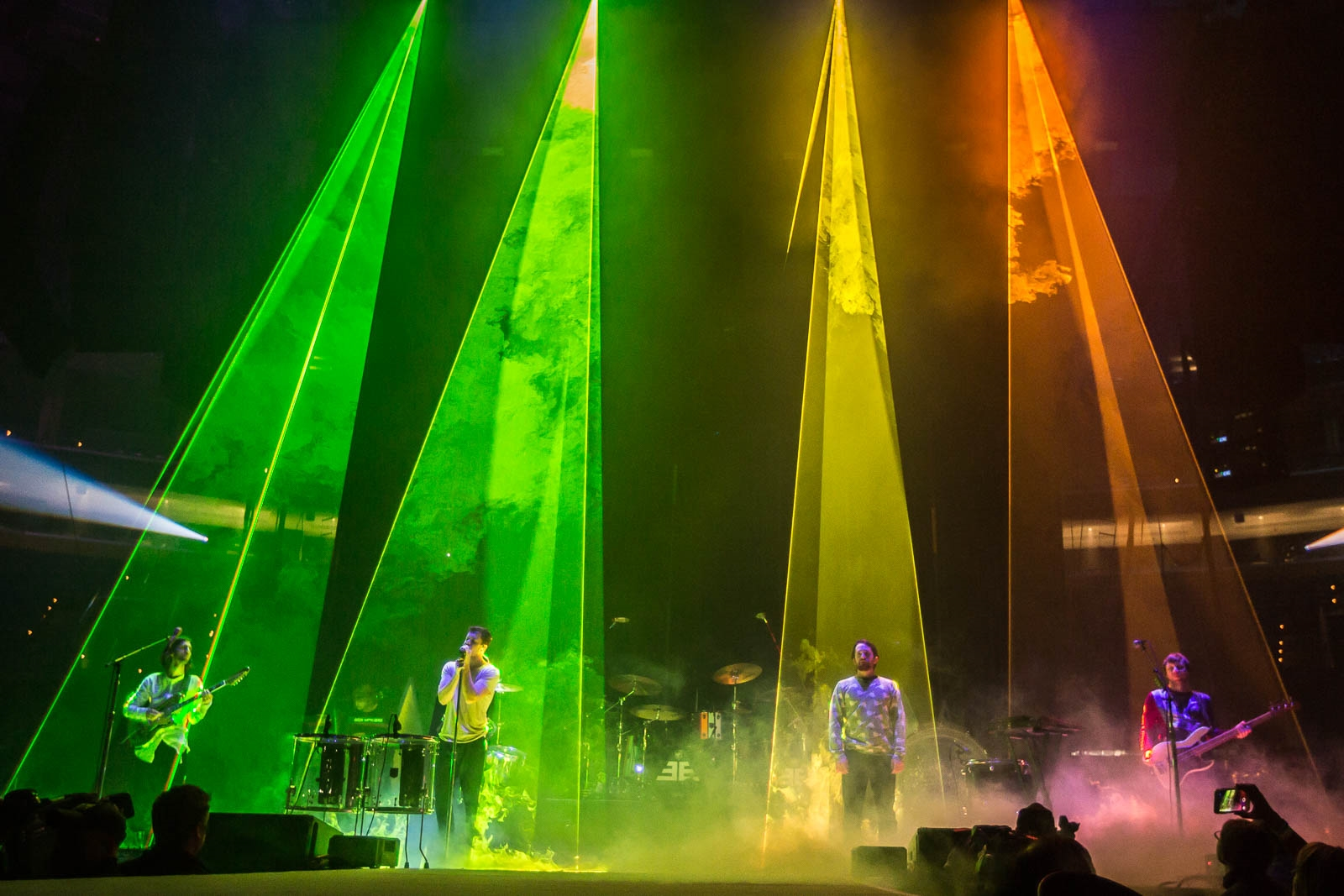Imagine Dragons headlined the show with laser lights and their arena-ready upbeat catalog.