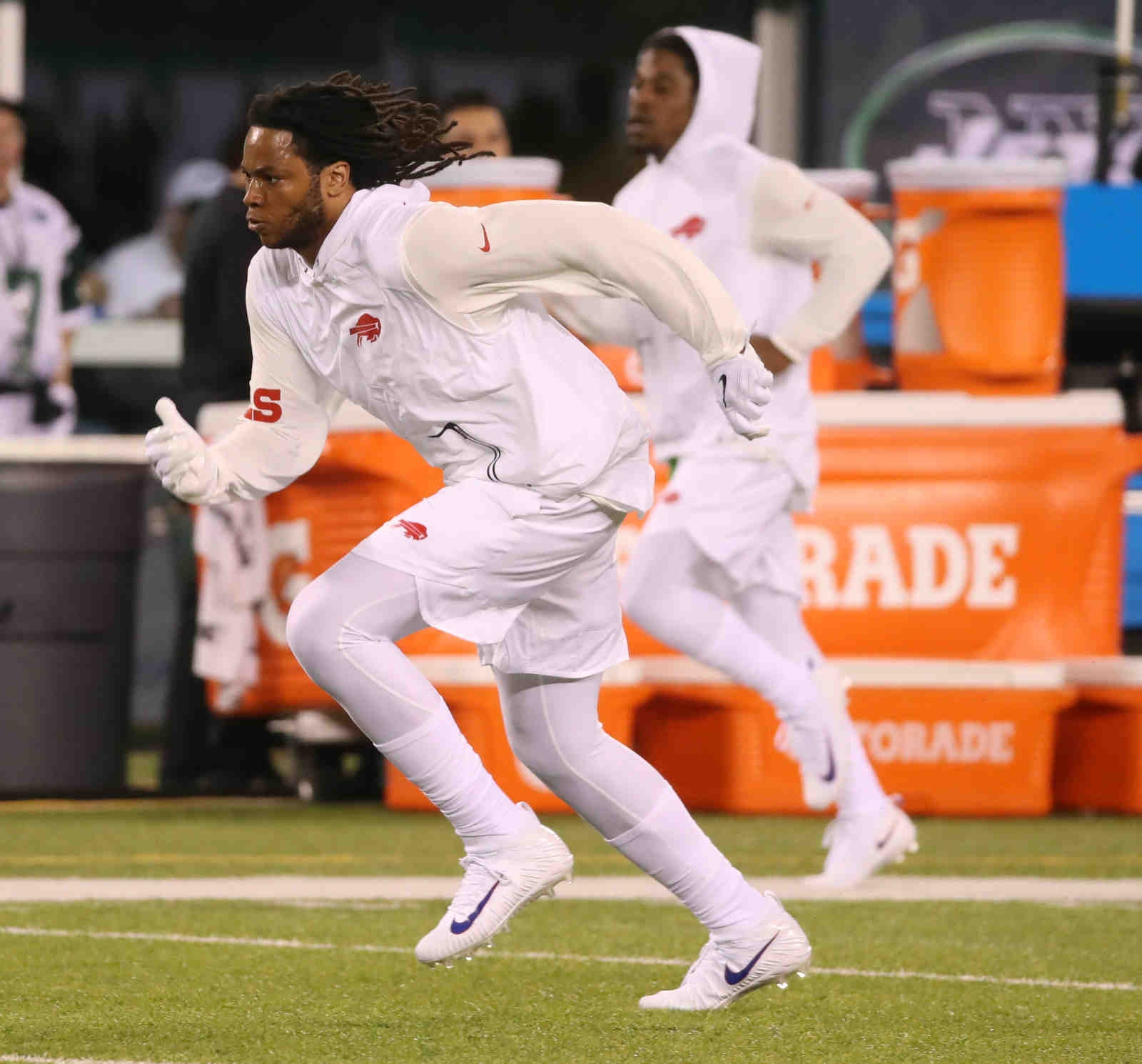Buffalo Bills' Kelvin Benjamin prepares during warmup.