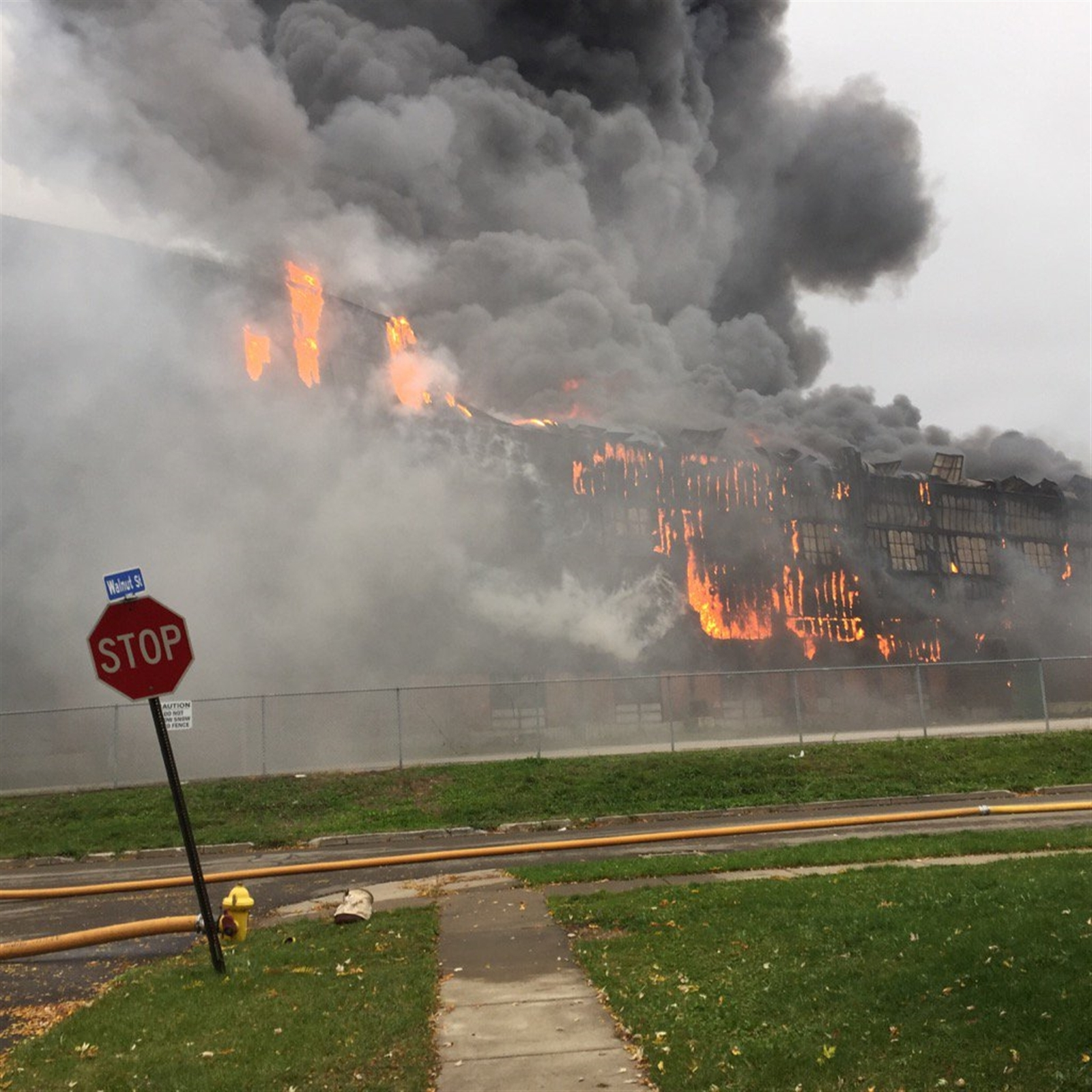 Fire ripped through the former Bethlehem Steel site beginning on Nov. 9, 2016.