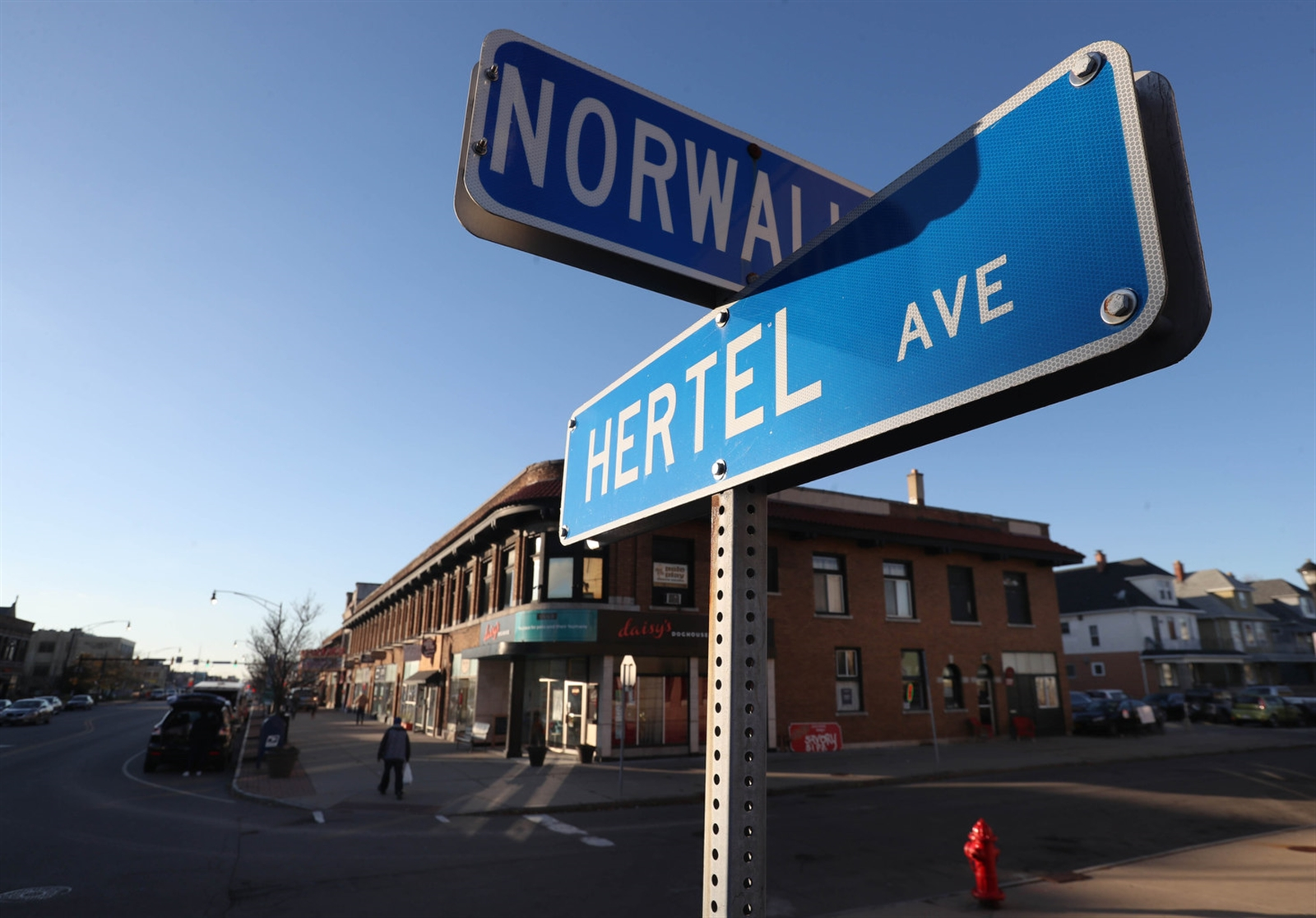 Hertel Avenue in Buffalo is a  shopping destination, especially at Christmas time.