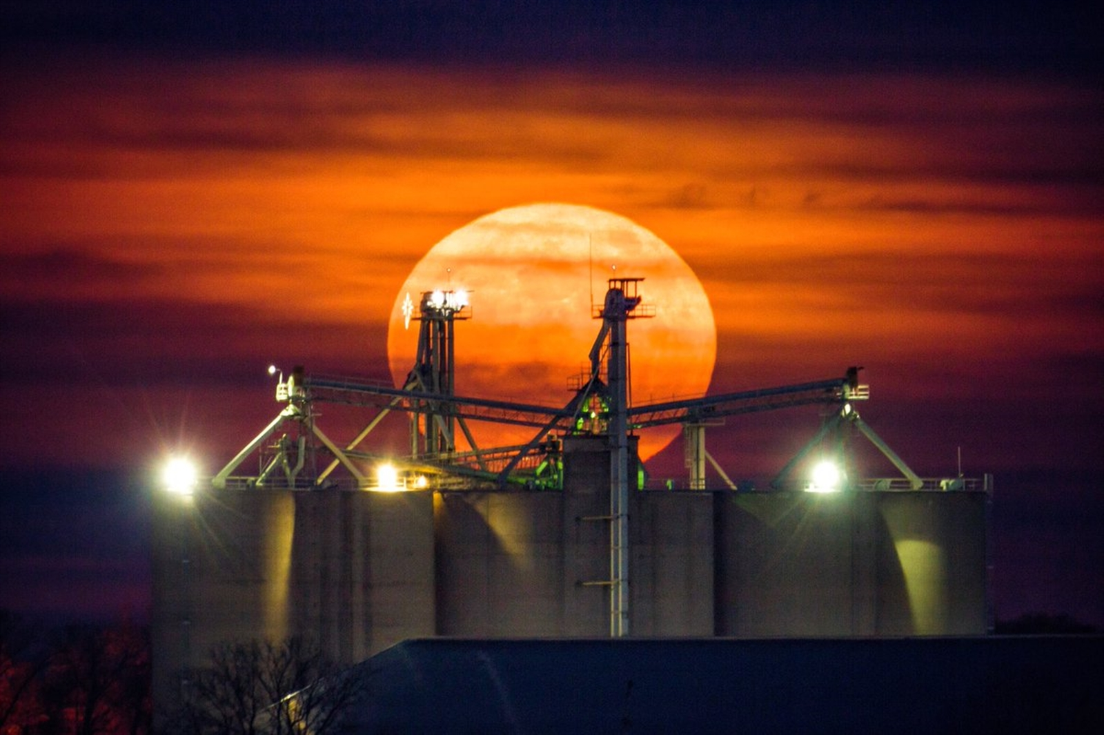 This photo of the supermoon was taken from Winamac, Ind., on Dec. 3, 2017.