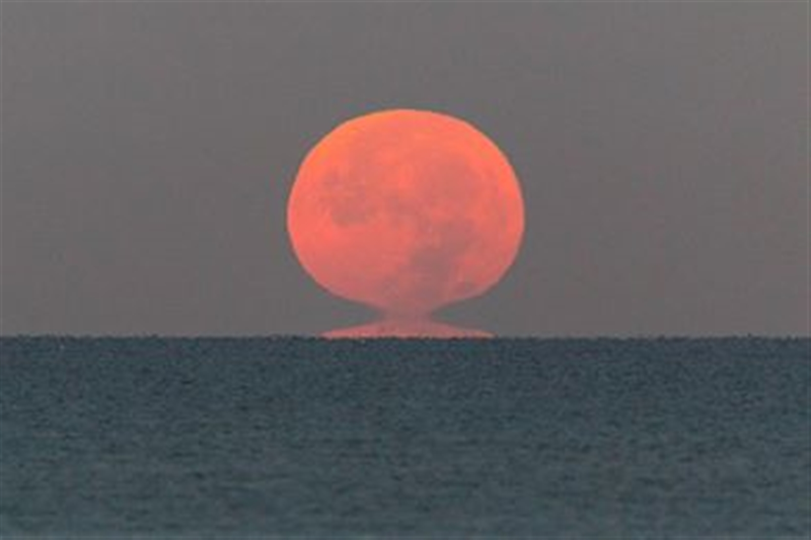 This photo of the supermoon over the Gulf of Mexico was taken on the morning of Dec. 3, 2017, from Bonita Springs, Fla.