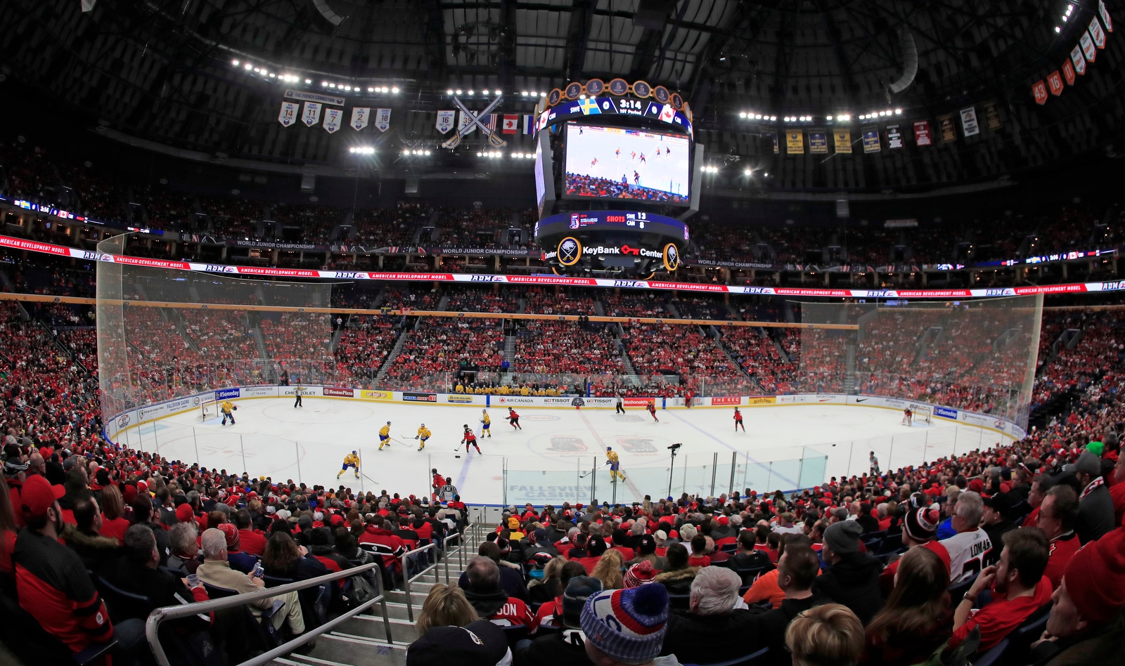 Canada vs Sweden during the first period of the World Junior Gold medal game at the KeyBank Center on Friday, Jan. 5, 2018.