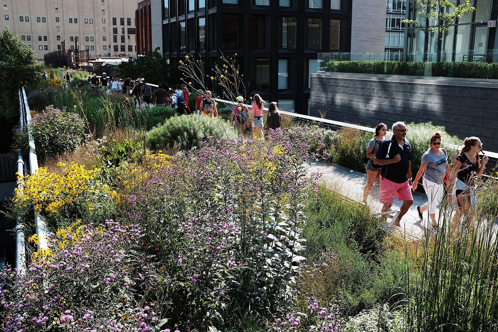 There is precedent: In lower Manhattan, a stretch of rail line has been converted into High Line Park, shown here.
