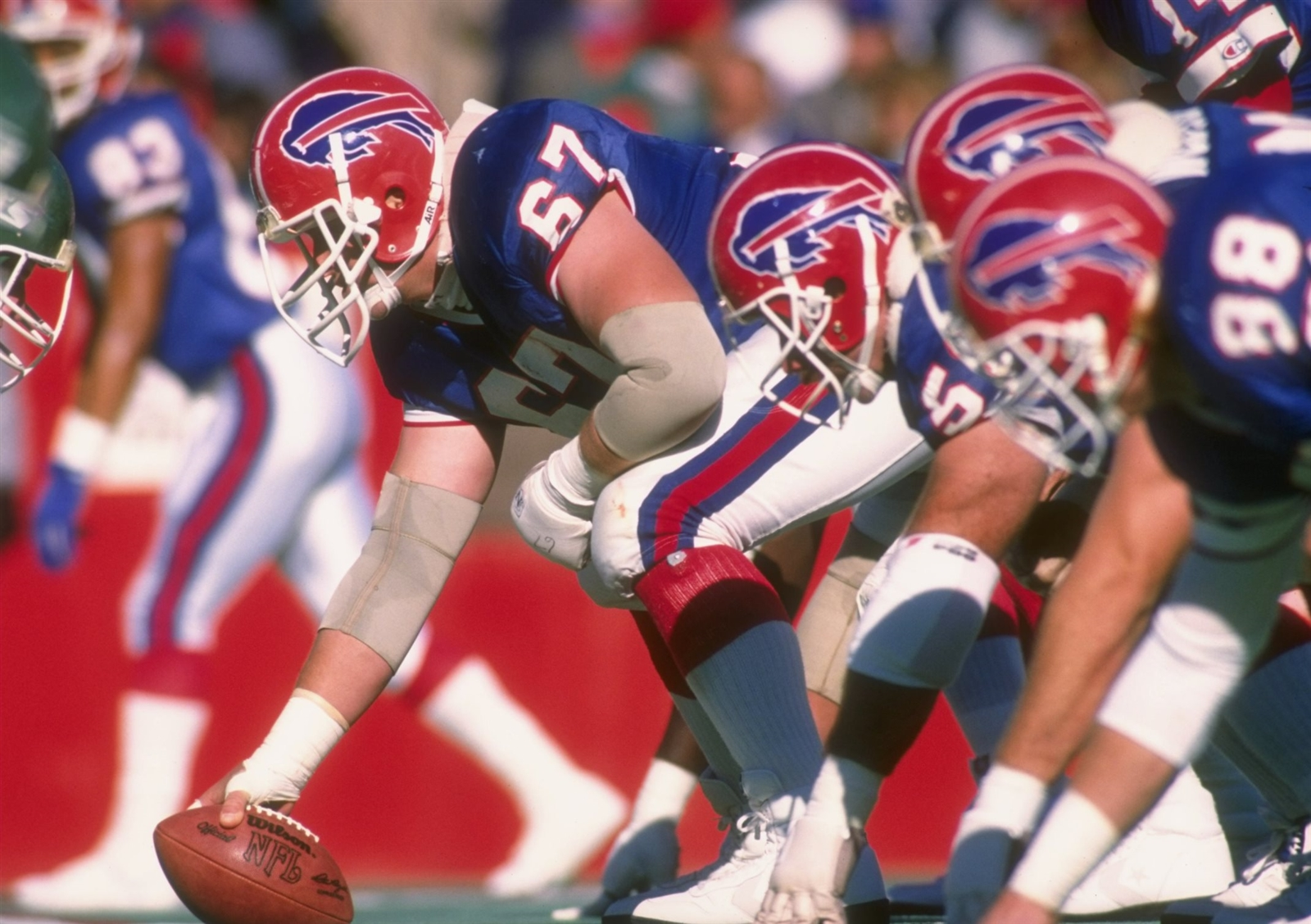 "1. Kent Hull. The leader of the Bills' Super Bowl-era offensive lines started 188 games, counting playoffs, over 11 seasons. He was critical to the success of the no-huddle offense due to his intelligence and ability to make line calls quickly, something none of his NFL contemporaries at center had to do with regularity. Hull also was well-built for center, long-armed and ""country"" strong. When Hull talked, everyone listened. He was first-team All-Pro in 1990 and 1991 and made the Pro Bowl in 1988, '89 and '90."